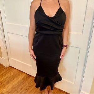 ASOS Scuba Ruffle Dress